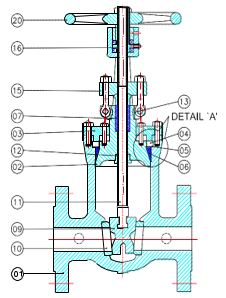Cast Steel Gate Valve Specification 1