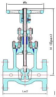 Cast Steel Gate Valve Specification 2